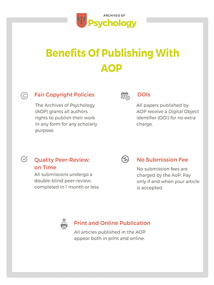 Benefits of publishing with Archives of Psychology