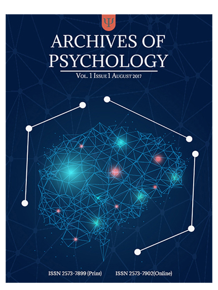 Issue 1 Archives of Psychology